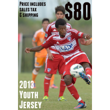 Shipping Only: 2013 FC Dallas Youth Jersey