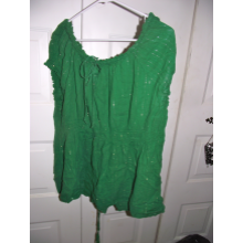 Green corset-back shirt Fashion Bug size 30/32