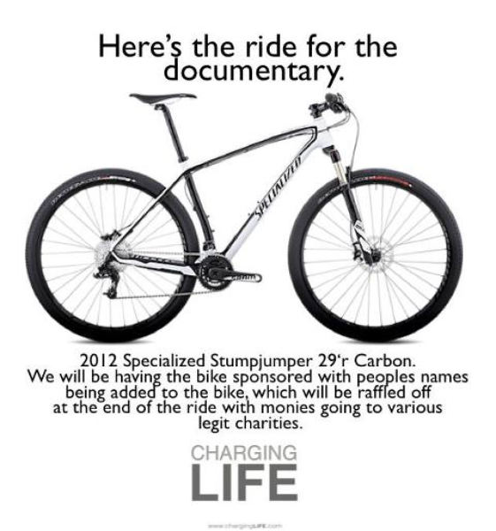 "Charging LIFE Documentary Project ""Bicycle Co-Sponsorship"""