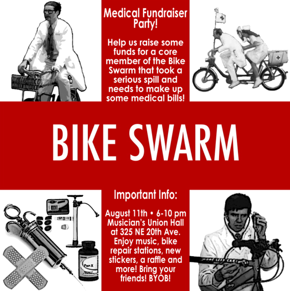 PDX Bike Swarm Medic Fundraiser Jamboree