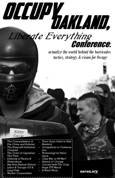 Occupy Oakland Liberate Everything Conference Donations