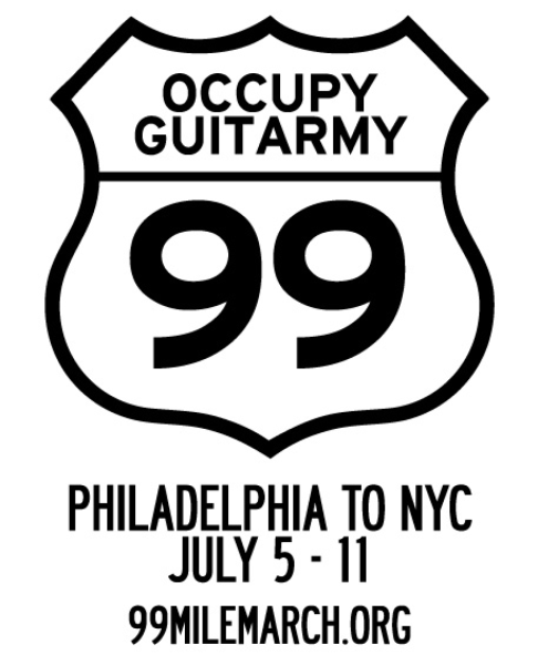 Occupy Guitarmy 99 Mile March July 5-11, 2012
