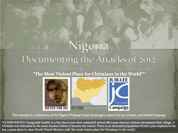 Nigeria Calendar: Documenting 2012 Attacks