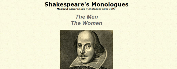 Shakespeare's Monologues Donations