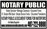 COMMON SENSE DOCUMENTS & NOTARY SERVICE